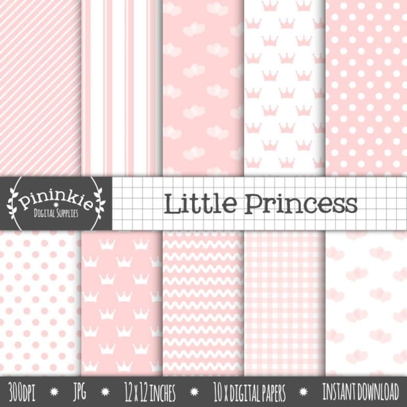 Baby Pink Digital Paper  Baby Girl Scrapbooking Paper  image 0