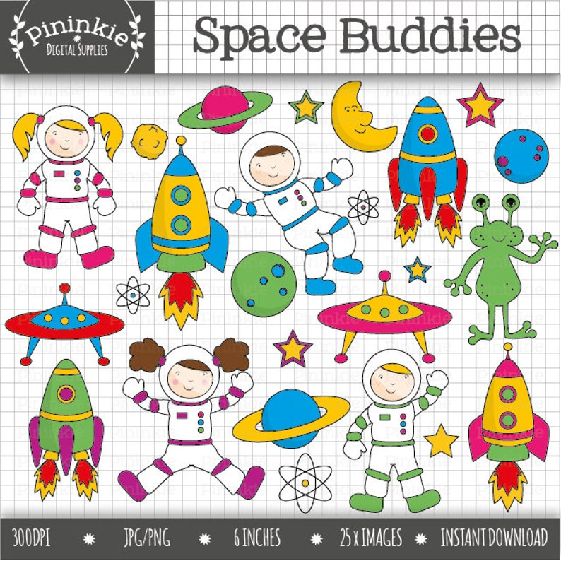 Space Clipart Astronaut Clip Art Commercial Use Digital image 0