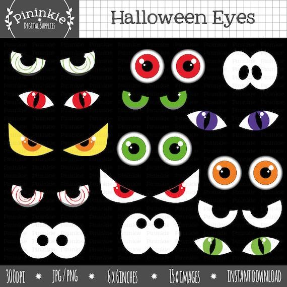 halloween eyeball clipart halloween eyes clip art halloween rh etsy com Scary Cartoon Eyes spooky eyes clipart free