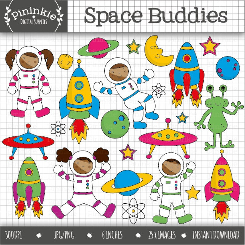 Space Clip Art Astronaut Clipart African American Clipart image 0