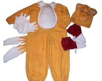 TAILS Sonic the hedgehog FOX 4pc Costume SET shoe gloves suit hat 2 3 4 5 6 7 8 10 12  sc 1 st  Etsy & Sonic the hedgehog costume   Etsy