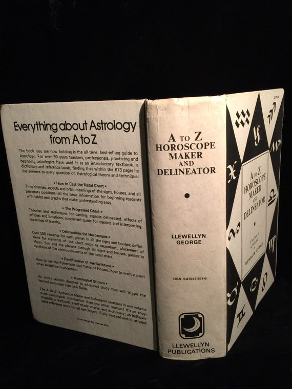 Antique Astrology Book A to Z HOROSCOPE MAKER and DELINEATOR by Llewellyn  George c  1975 at Gothic Rose Antiques