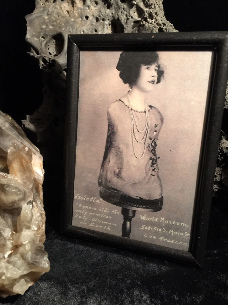 Circus Sideshow Half Woman Reprint In Fancy Vintage Frame Etsy