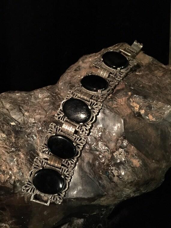 Gothic Antique Bracelet with Impressive Deep Black