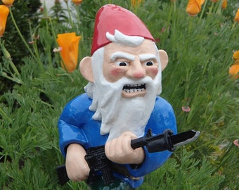 Combat Garden Gnome Charging with Fixed Bayonet
