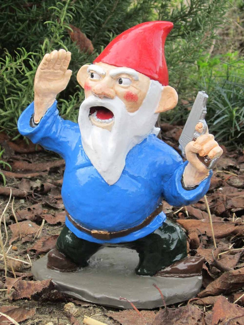 Combat Garden Gnome Officer with Pistol image 0