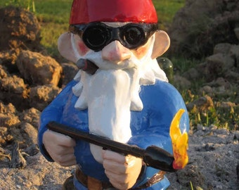 Combat Garden Gnome with Flamethrower