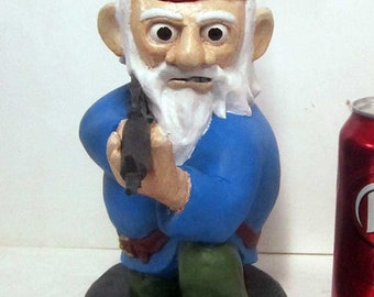 Combat Garden Gnome (in kneeling position with M-16)