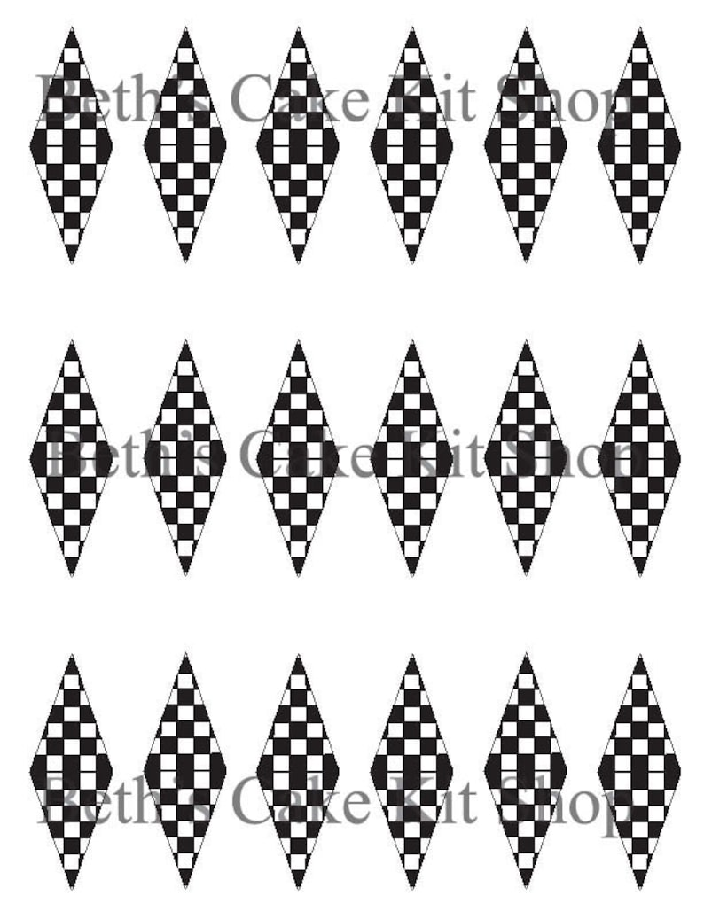 photograph about Checkered Flag Printable known as Printable Racing Checkered Flag Full Line Obtain Cupcake or Cake Topper