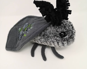 Mothman Amigurumi ~ Creepy Cute Cryptid Bean Bag ~ Stim Toy