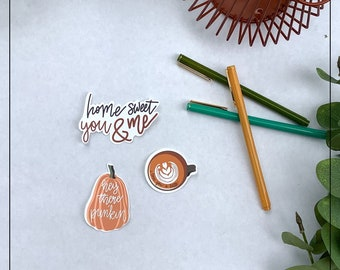 Home Sweet You & Me Country Song Sticker Pack Love You A Latte Autumn Sticker Pack Hey There Pumpkin Sticker Waterproof Pumpkin Sticker