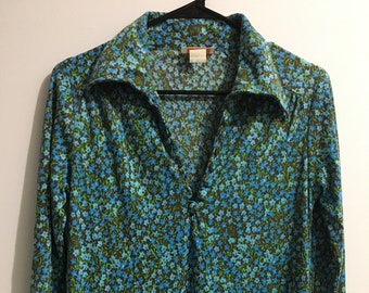 d8044656a110d4 Vintage Lilly Pulitzer Long Floral Bath Robe Housecoat Small