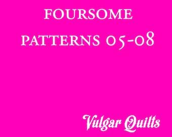 Paper-pieced Quilt Pattern Bundle: Patterns 05-08 PDF
