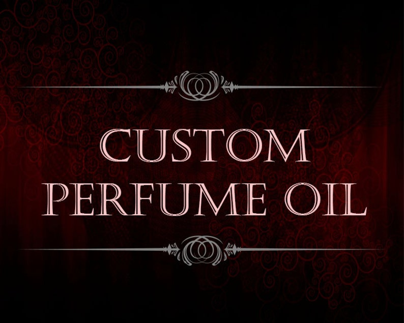 Custom Perfume Oil  Create Your Own Scent  Amber Glass image 0
