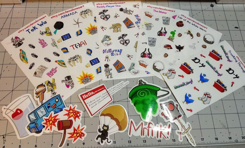FULL SET of stickers image 0