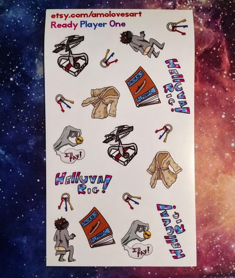 Ready Player One Inspired Kiss Cut Sticker Sheet image 0