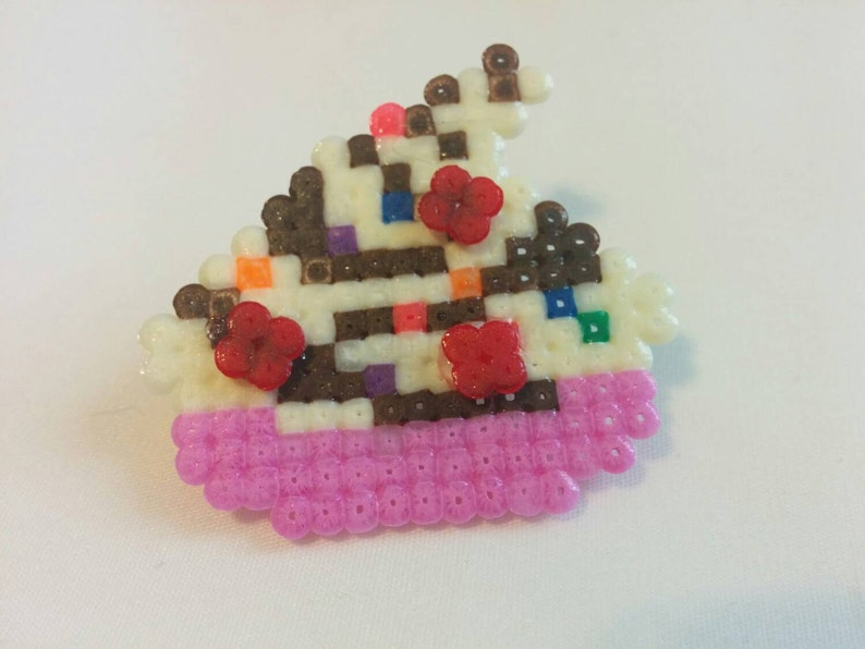 Ice cream sundae with cherries and sprinkles pin image 0