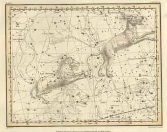 Astronomy decor, Astronomy map, Astrologer, Vintage print, #71