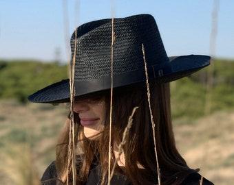 e55c9657 Straw Hat Florida Black Fedora by Raceu Atelier - Summer hats