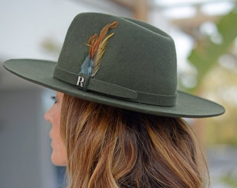 e0619b3237797e Khaki Salter Hat by Raceu Atelier - 100% Wool Felt - Fedora Hat