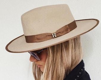 f7938b51d56 Beige Nuba Hat by Raceu Atelier - 100% Wool Felt - Fedora Hat