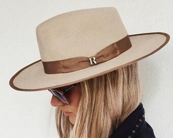 Sombrero Nuba Beige Raceu Atelier - Sombrero de fieltro - Tipo fedora 9f438d8d4b9