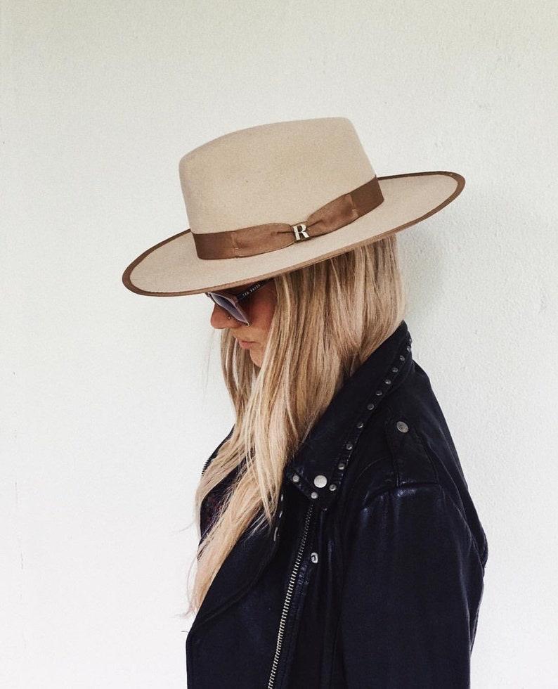 e062185a42a097 Beige Nuba Hat by Raceu Atelier 100% Wool Felt Fedora Hat   Etsy