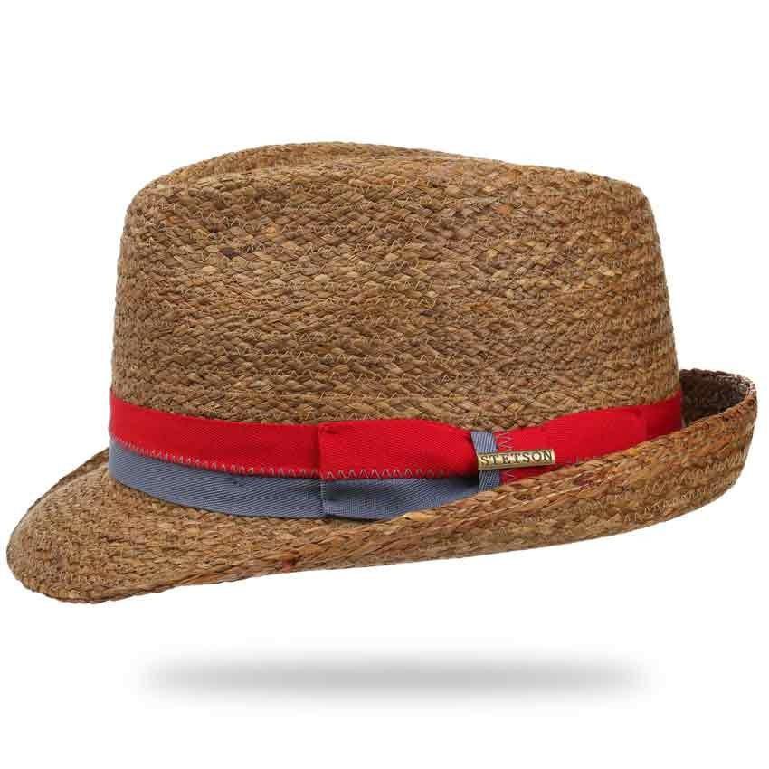6e5ecdec767 Stetson straw trilby hat Brown Straw hat
