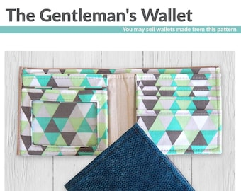 The Gentleman's Wallet PDF sewing pattern by Mrs H Men's wallet