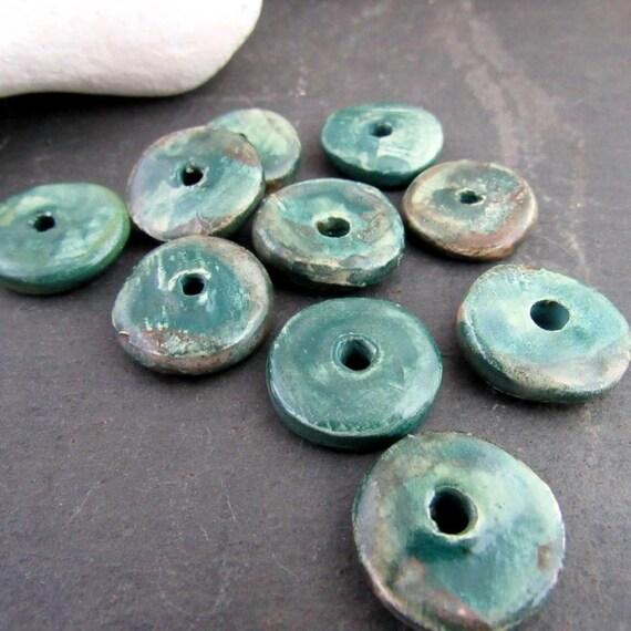 3420607 Dark Brown 6x2.5mm 100 Pieces Greece Ceramic Washer Beads