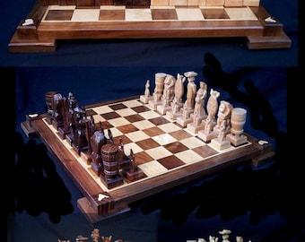 Chess Set Handcarved Custom Namibian Chess Set on etsy   custom chess sets, custom chess pieces, and custom chess boards