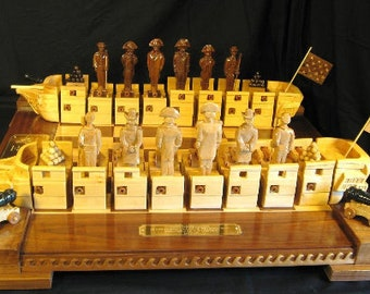 War of 1812 Chess Set by Jim Arnold