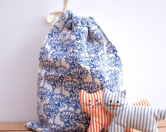Drawstring Bag Cornflower Print