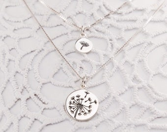 Mother Daughter Dandelion Necklaces - - Mothers Day Gift - Gift for Mom