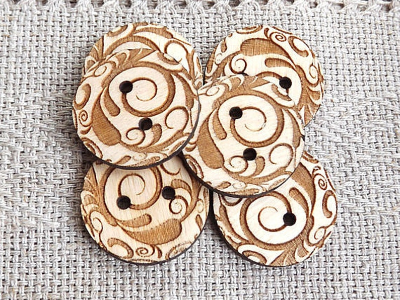 Wood button Sewing buttons Sewing supplies Custom buttons Sewing button Wooden Buttons Wood buttons 10 wood buttons Craft Buttons