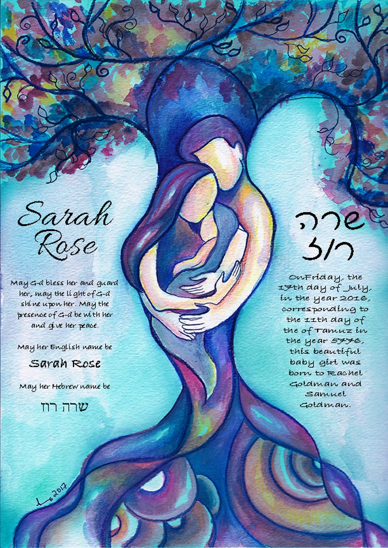 Jewish Baby Naming Certificate - Jewish baby gift, Tree of Life, Bris, Brit  Milah, Baby Shower, New Baby, Baby girl, Baby boy, New Baby Gift
