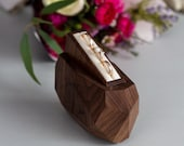 Rustic ring bearer box - wooden wedding ring box - ceremony ring box  - ring display box by Woodstorming