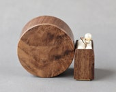 Round proposal ring box, unique wood ring box, small ring box, engagement ring box by Woodstorming - ready to ship