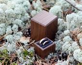 Wooden wedding ring box - ring bearer box - wedding ring display