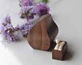 Unique engagement ring box - wave shape proposal ring box by Woodstorming