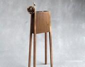 Wood vase - dry flower vase - modern home decor - housewarming gift - table centerpiece - stick vase - geometric vase - handmade wood vase