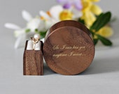Proposal ring box - wood ring box with love qoute inlay