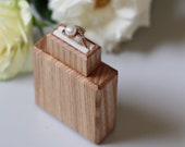 Slim engagement ring box, small wood ring case, proposal ring box, wood ring holder, ring display box