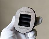 Personalized ring bearer box - wedding ring box - engraved ring box