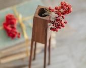 Wood vase - modern home decor - dry flower vase - housewarming gift - table centerpiece - stick vase - geometric vase - handmade wood vase