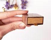 Slim ring box - thin engagement ring box - proposal ring box -  personalized gift - flat ring box Woodstorming