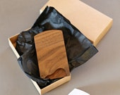 Walnut business card holder for cards 90 x 51 mm - coworker gift - fathers day gif - business gift