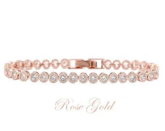 ace4fb40d4e1d5 Tennis bracelets, rose gold tennis bracelet, gold tennis bracelet, silver tennis  bracelet, cz tennis bracelet, crystal tennis bracelet,