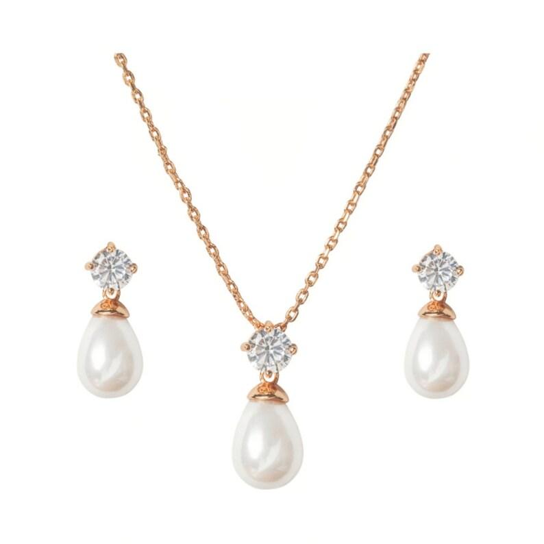 8d7f4a417 Bridal set wedding jewelry set necklace earring set prom   Etsy