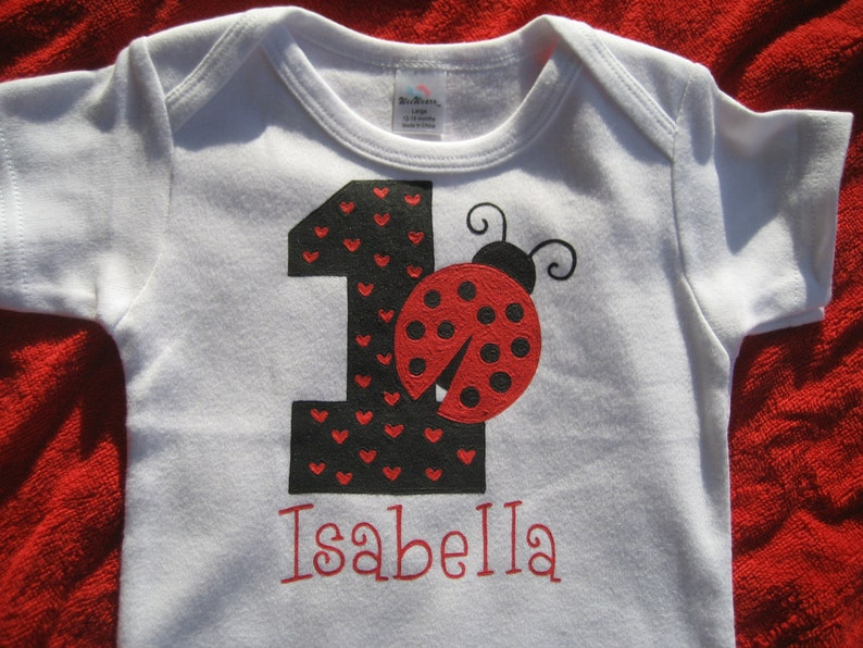 13d7e9c66 Lady Bug First Birthday Girl One-PieceGirl 1st Birthday Lady | Etsy